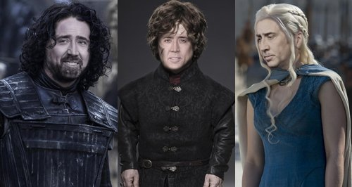 Nicholas Cage and Game of Thrones characters