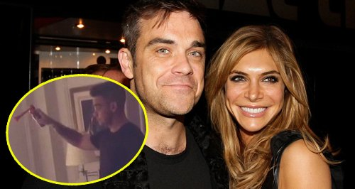 Robbie Williams Ayda Field Williams fog horn Insta