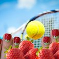 Tennis strawberries nail art video Wimbledon