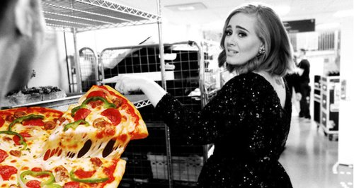 Adele pizza canvas