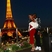 21. Beyonce and Jay Z cuddle up in Paris as they look out onto the Eiffel Tower.