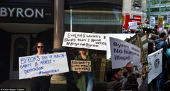 Byron burger protest