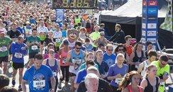Half Marathon start line