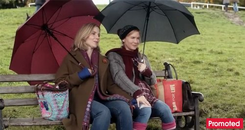 Bridget Jones friendship umbrellas