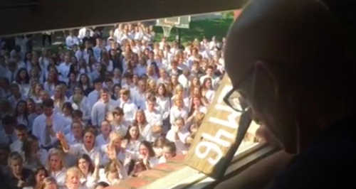 Tear-Jerking Moment Pupils Surprise Their Cancer-