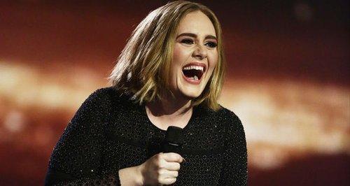 Adele laughing