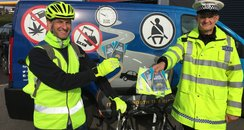 Hampshire Police Be Seen cyclists