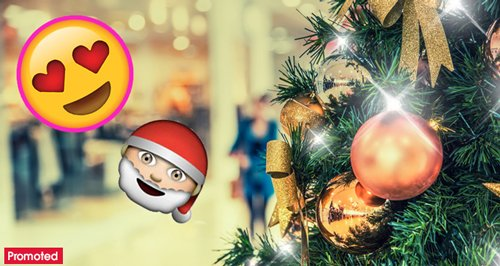 Christmas festive shopping mall promo