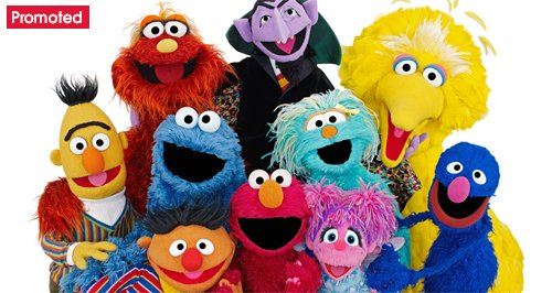 Sesame Street cast of characters promo tab