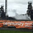 Save Our Steel banner at Port Talbot
