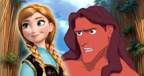 Frozen Anna and Tarzan Canvas