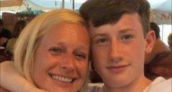 Morgan Ackerman and his Mum
