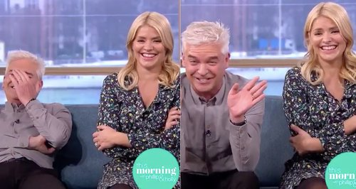 Phil and Holly get the giggles