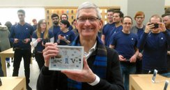 Apple boss Tim Cook in Glasgow