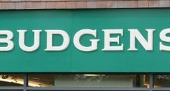 The logo of Budgens