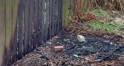 The scene of the fire in Mead Walk, Walker
