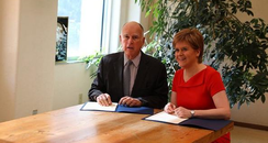 First Minister Nicola Sturgeon Climate Change Cali
