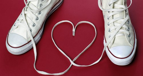 Heart shoelaces