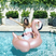14. Sofia Vergara poses on an inflatable flamingo – after some difficulty