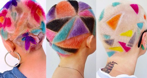 Rainbow Buzzcut