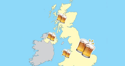 Britain's Booziest Locations Canvas
