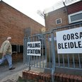 Polling station in Wales